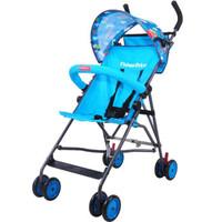 费雪(Fisher-Price)婴儿推车轻便折叠小伞车儿童四轮推车 星际蓝