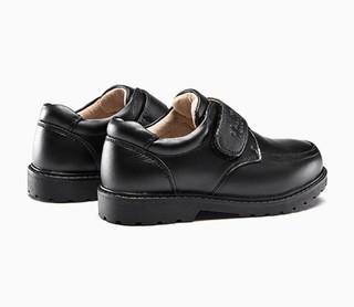 YEARCON 意尔康 儿童魔术贴软底皮鞋 黑色 32