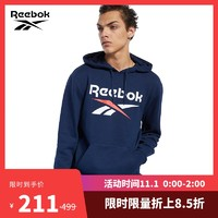 Reebok锐步男子连帽卫衣CL F VECTOR HOODIE时尚休闲套头衫FJ3280