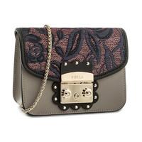 1号:FURLA 芙拉 女包METROPOLIS系列刺绣包盖迷你链条包 *2件