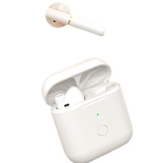 QCY T8S 半入耳式真无线蓝牙耳机 冰姿白