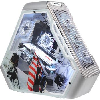 FUXK 乔思伯Aerospace TR03 MOD定制宇航主题版 钢化玻璃侧透等边三角支持ATX主板/360/240水冷电脑机箱