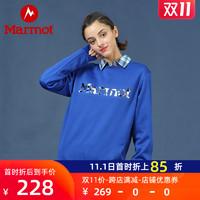 Marmot/土拨鼠秋冬新款户外弹力经典中性套头圆领情侣休闲卫衣 H83785 *2件