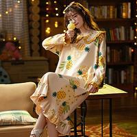 xiangerma 香尔玛 女士纯棉长袖睡裙 多款可选