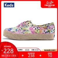 Keds旗舰店女鞋帆布鞋 厚底鞋 懒人印花鞋 WF54717 WF54719