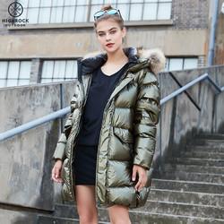 Highrock天石冬羽绒服男女中长款加厚防寒服国潮外套