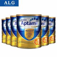 澳洲爱他美(Aptamil)金装婴幼儿配方奶粉900g 新西兰原装进口 1段6罐(2021年8月)