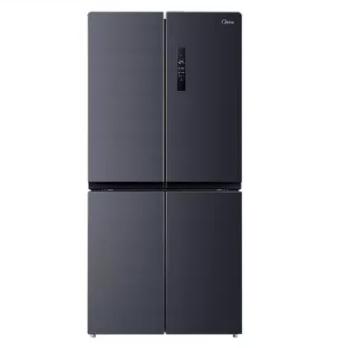 美的446升十字对开四门一级能效变频风冷智能官方节能家用电冰箱