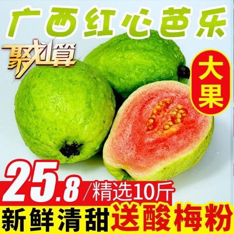 纯香果 广西特产红心芭乐番石榴水果应季10斤整箱潘石榴新鲜包邮5