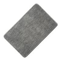 京东京造 长毛地垫 超细纤维厚实室内门垫 平绒50x80cm 银灰色