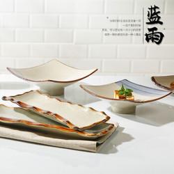 日式手绘和风三分烧釉下彩陶瓷餐具盘子寿司盘菜盘浅盘意面盘