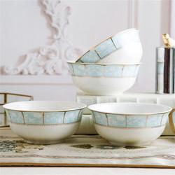 4个装景德镇陶瓷碗6英寸面碗家用大饭碗面碗陶瓷餐具金钟碗