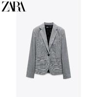 ZARA 新款 女装 格子修身休闲西装外套 02157120802