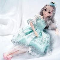 奥智嘉 超大梦幻黛蓝芭比娃娃60厘米芭比娃娃 沐凯蒂+凑单品