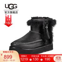 UGG秋冬女士潮炫毛茸朋克拉链冰面防滑时尚靴 1102950 BLK   黑色 39 *2件