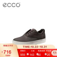 ECCO爱步休闲男士户外运动磨砂皮鞋百搭舒适透气男鞋 凯尔531124 咖啡色53112458744 39