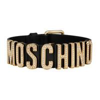 MOSCHINO 莫斯奇诺  黑色logo标颈圈
