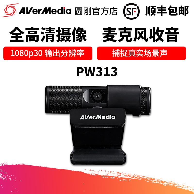 圆刚PW313 高清1080p美颜直播摄像头 视频会议商务办公