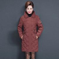 40-50岁中年妈妈装秋冬新款棉服外套中老年女装冬装连帽保暖棉服