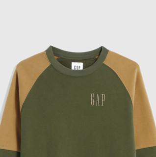 Gap 盖璞 男士圆领抓绒长袖卫衣624874 军绿色S