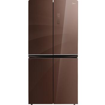 美的(Midea)476升 十字对开门冰箱风冷无霜一级能效节能省电多维智能变频  BCD-476WGPM(E)