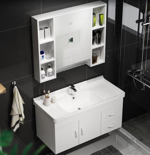 HOROW 希箭 1155 实木浴室柜组合套装 凤凰·白色 80cm