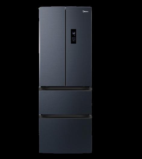 美的322升法式多门四开门净味冰箱家用变频一级节能官方智能家电