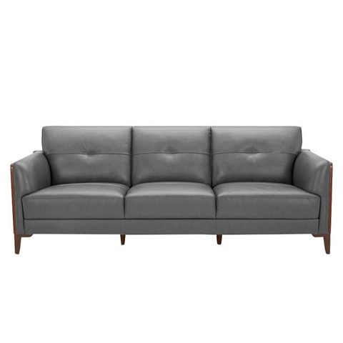 KUKa 顾家家居 1055 现代简约真皮沙发 三人位