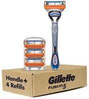 Gillette Fusion5 男士剃须刀手柄和刀片替换装,4 只装