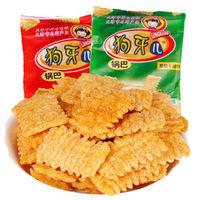 狗牙儿锅巴比萨卷25*10包  儿时经典零食锅巴卷礼包多规格