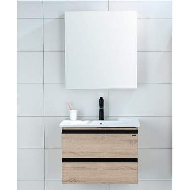 移动专享:ARROW 箭牌卫浴 AEC6G3236 现代轻奢实木浴室柜组合 60cm