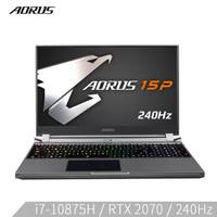 技嘉AORUS15P WB 2020款15.6英寸电竞游戏笔记本(十代i7-10750H RTX 2070 8G 512GSSD 240Hz)RX5L
