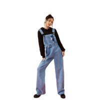 ONLY 女士纯棉长款牛仔背带裤12047M001 牛仔蓝160/64A