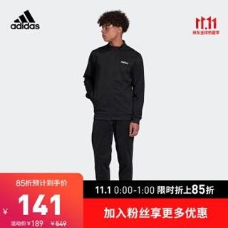 阿迪达斯官网 adidas MTS LIN TRIC 男装训练运动套装FM0616 黑色 J/L(175/96A)