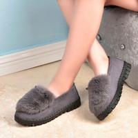 女鞋一脚蹬休闲棉鞋 女款