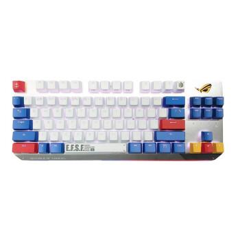 ROG 玩家国度 ROG游侠TKL系列 机动战士高达版 有线键盘 84键 红轴 白蓝色