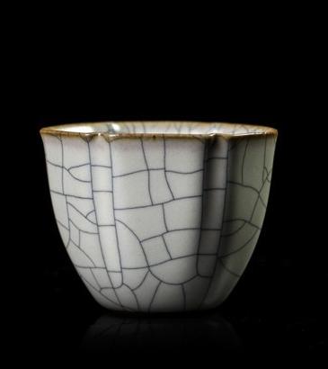 """苏士林手作功夫茶具陶瓷品收藏级茶碗茶盏 """"传世""""哥窑吉祥杯"""