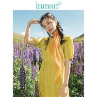 INMAN 茵曼 1892104238 女款纯色连衣裙 *2件