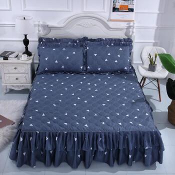 移动端:雲上舒 床裙单件 床罩夹棉 裙摆35cm  150x200cm