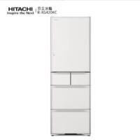 HITACHI 日立 R-XG420KC 多门冰箱 401L 水晶白色