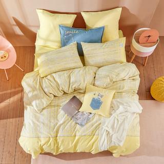 MENDALE 梦洁家纺 卡尔的猫 纯棉磨毛印花四件套 1.5m(设计师款)