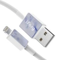 ifory 安福瑞 L01001 Lighting数据线 编织线 MFi认证 0.9米 淡蓝紫 *3件