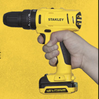 STANLEY 史丹利 SCD20C2K-A9 冲击钻+钻头包 单机1电1充 12V