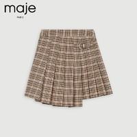 maje MFPJU00280 女装扇形格纹百褶半身裙