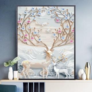 缘色 DIY手绘数字油画 40*50cm 薄内框款 多款可选