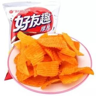 Orion 好丽友 休闲零食 薯片 好友趣韩国泡菜味75g/袋(新老包装随机发货) *10件