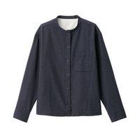MUJI 无印良品 29AC729 女式 新疆棉法兰绒 立领衬衫