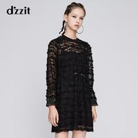 dzzit 地素 3G3O501 女士蕾丝连衣裙
