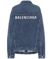 BALENCIAGA 巴黎世家 logo 印花 牛仔夹克