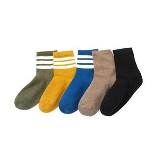 Balabala 巴拉巴拉 儿童中长筒袜子秋冬季 5双装